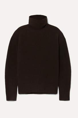Nili Lotan Mariah Brushed Cashmere-blend Turtleneck Sweater - Brown