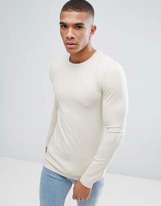 Asos Design Extreme Muscle Fit Long Sleeve T-Shirt With Crew Neck