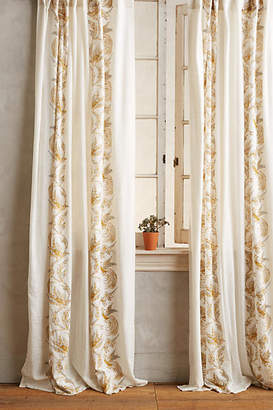 Anthropologie Scrolled Quills Curtain