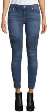 True Religion Moto Super Skinny Ankle Jeans