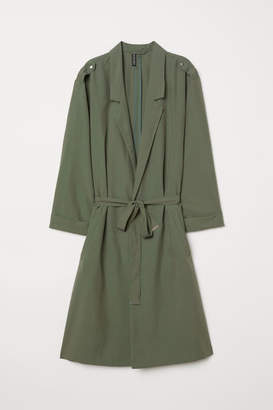 H&M Modal-blend Trenchcoat - Green