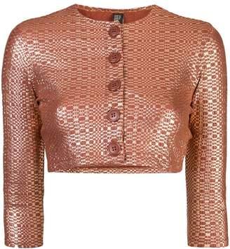 Lisa Marie Fernandez metallic cropped cardigan