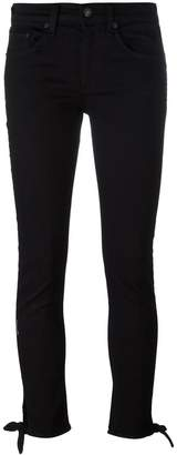Rag & Bone Jean knot detail skinny jeans