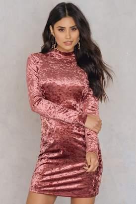 Glamorous Open Back Velvet Dress