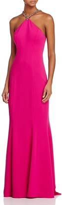 Carmen Marc Valvo Infusion Embellished Halter Gown $338 thestylecure.com