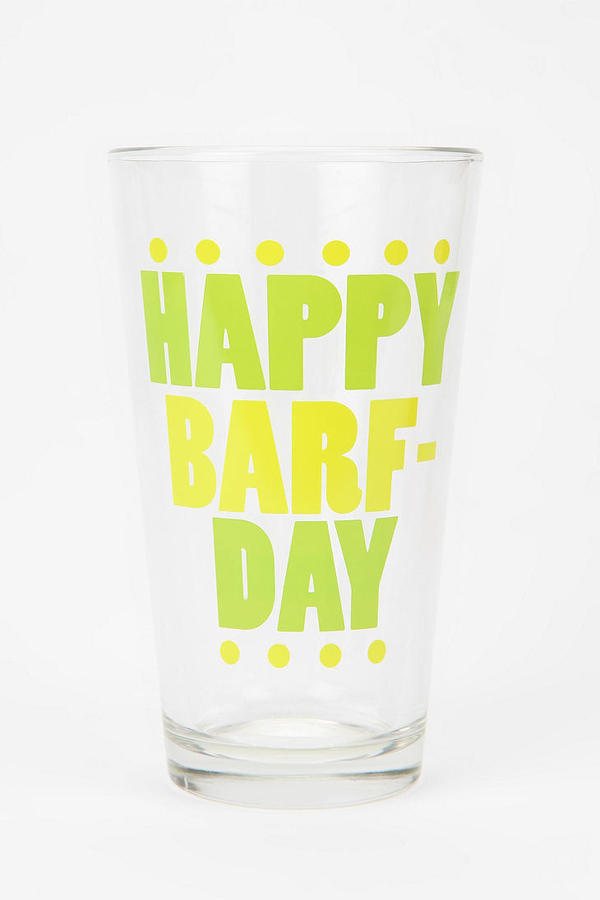 Urban Outfitters Birthday Pint Glass