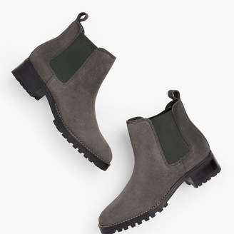Talbots Chelsea Pull-On Booties - Suede