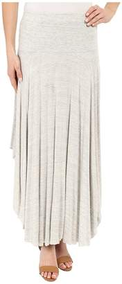 Mod-o-doc Space Dyed Rayon Spandex Jersey Round Midi Skirt Women's Skirt
