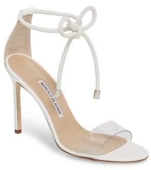 Manolo Blahnik Estro Ankle Tie Sandal
