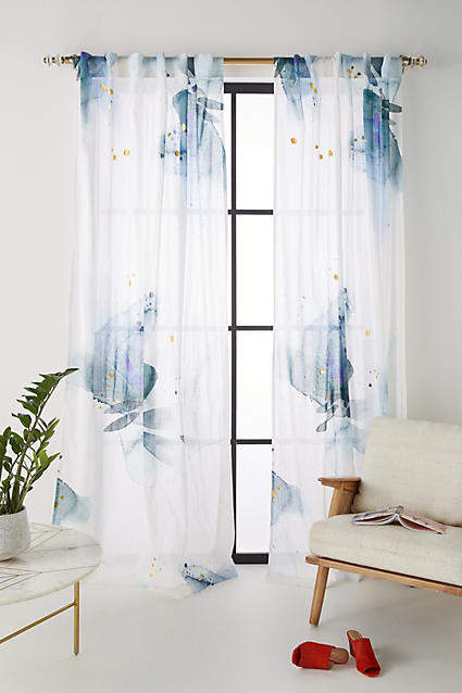 Emily Jeffords Watercolor Garden Curtain