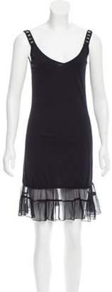 Anna Sui Embellished Mini Dress Black Embellished Mini Dress