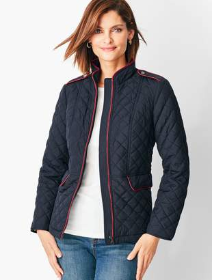 Talbots Quilted Military Coat