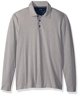 Nautica Men's Long Sleeve Solid Polo Shirt