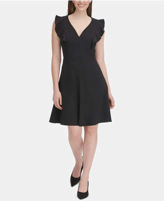 Tommy Hilfiger Ruffle-Sleeve Fit & Flare Dress, Regular & Petite Sizes