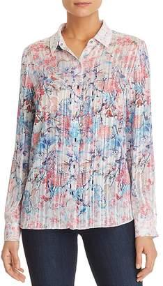 T Tahari Rafiki Floral Chiffon Shirt