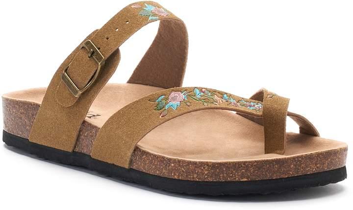 Mudd Women's Floral Toe Loop Sandals