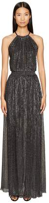 Just Cavalli Halter Sheer Long Dress Women's Dress