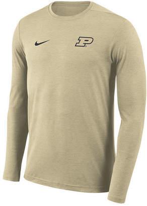 Nike Men's Purdue Boilermakers Long Sleeve Dri-fit Coaches T-Shirt