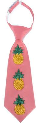 Gucci Embroidered Pineapple Silk-Blend Tie