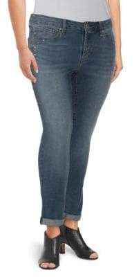 Seven7 Daphne Roll-Cuff Skinny Ankle Jeans