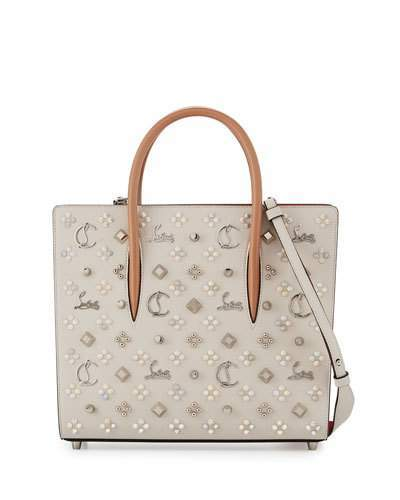 Christian Louboutin  Christian Louboutin Paloma Medium Mixed-Stud Tote Bag, Ivory/Multi