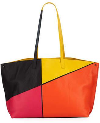 Akris Ai Medium Sunrise Patchwork Shoulder Bag
