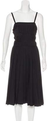 Cacharel Appliqué-Accented Pleated Dress