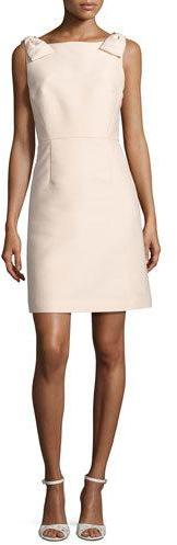 Kate Spade Kate Spade New York Sleeveless Structured A-Line Cocktail Dress, Pale Pink