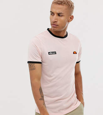 4ab0b5c42d7 Ellesse Diego recycled ringer logo t-shirt in pink exclusive at ASOS