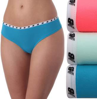New Balance Women's 3-pack Mainstream Thong Panties NB4030-3