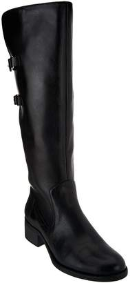 Isaac Mizrahi Live! Riding Boots with Straps - Wide Calf