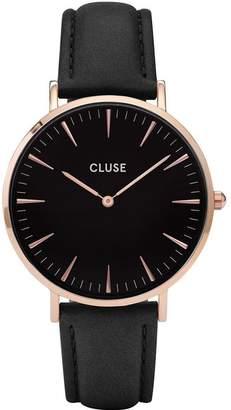 Cluse Women's La Boheme 38mm Leather Band Metal Case Quartz Watch CL18001