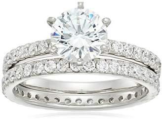 Swarovski -Plated Sterling Silver Zirconia Ring