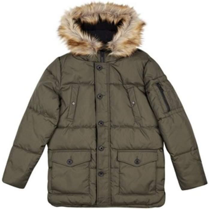 Womens **Burton Khaki Faux Fur Hooded Smart Parka Jacket