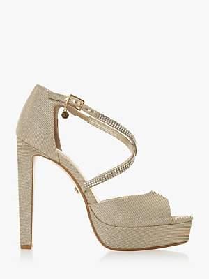 f30bcece6c9a Dune Mickah Diamante Platform Heeled Sandals