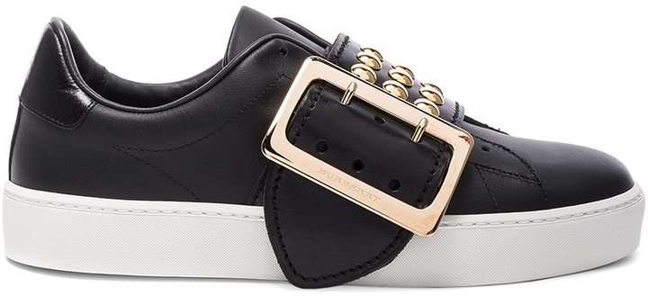 Burberry Studded Leather Westford Sneakers