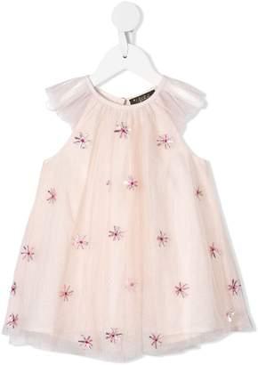 Velveteen Harper sequin-appliqué dress