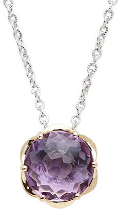 Town & Country Sterling Silver 14K Yellow Gold And Amethyst Brazilliance Pendant