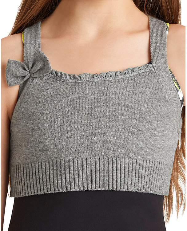 Fitted Knitted Bra Top