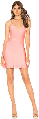 About Us Marin Ruffle Bandage Mini Dress