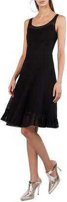 Akris Punto Sleeveless Scoop-Neck Punto Dress