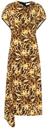 Victoria Beckham Printed jersey midi dress