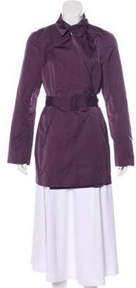 Lafayette 148 Belt-Accented Knee-Length Coat