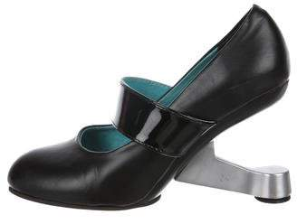 United Nude Leather Mary Jane Pumps