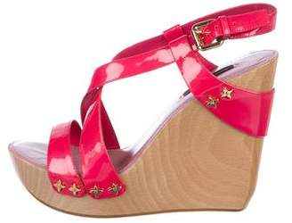 Louis Vuitton Fleur Platform Wedge Sandals