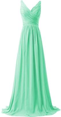 ThaliaDress Women V Neck A Line Formal Evening Bridesmaid Dress Prom Gown T015LF US