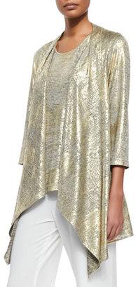 Caroline Rose Luminous Jersey Draped Jacket, Petite $118 thestylecure.com