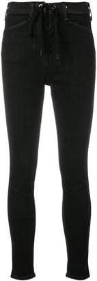 Rag & Bone lace fastening skinny jeans
