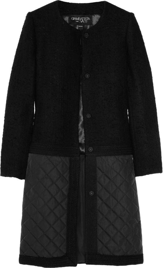 Giambattista Valli Collarless bouclé wool-blend coat
