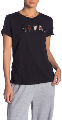 Grey Lab Love Sequined Graphic Tee